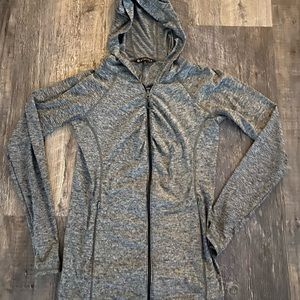 Light weight hooded zip up